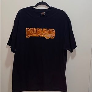 Harley Davidson Deadwood South Dakota Mens T-Shirt